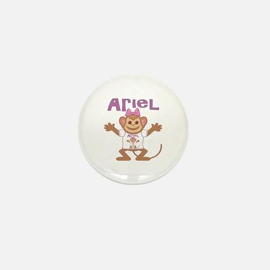 Little Monkey Ariel Mini Button