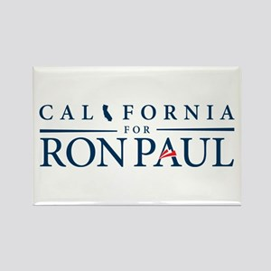 California for Ron Paul Rectangle Magnet