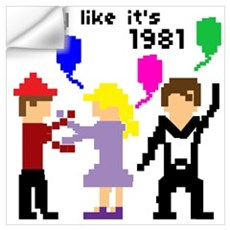 party like it's 1981 Wall Decal