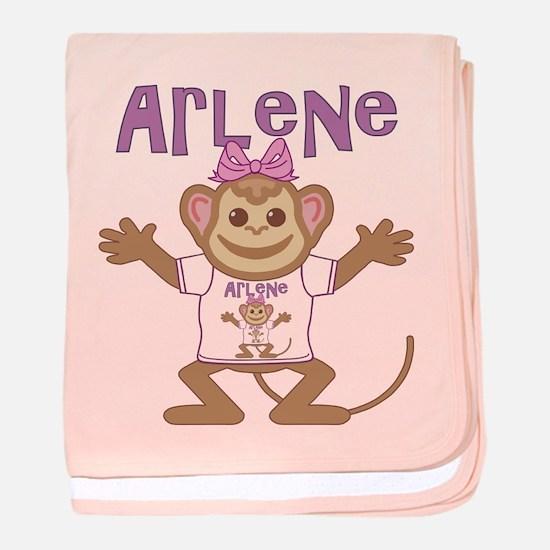 Little Monkey Arlene baby blanket