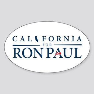 California for Ron Paul Sticker (Oval)