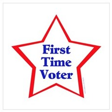 First Time Voter Star Framed Print