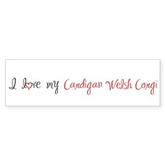 I Love My Cardigan Sticker (Bumper 50 pk)