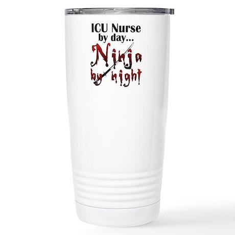 ICU Nurse Ninja Stainless Steel Travel Mug