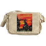 Pabear48 Artwork Messenger Bag