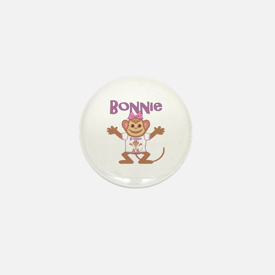 Little Monkey Bonnie Mini Button