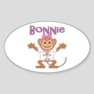 Little Monkey Bonnie Sticker (Oval)