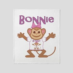 Little Monkey Bonnie Throw Blanket