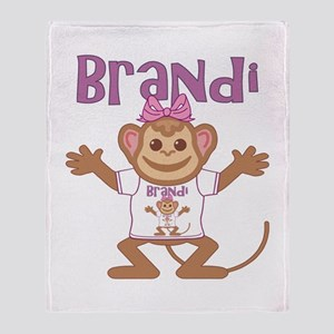 Little Monkey Brandi Throw Blanket