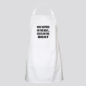 WHAT HAPPENS ON THE BOAT Apron