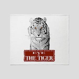 Eye of the Tiger Specail Effe Throw Blanket