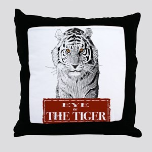 Eye of the Tiger Specail Effe Throw Pillow