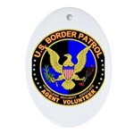 US Border Patrol mx1 Oval Ornament