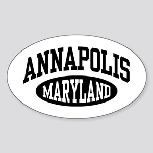 Annapolis Maryland Sticker (Oval)