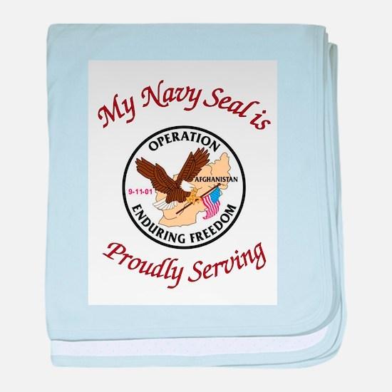 My navy seal baby blanket