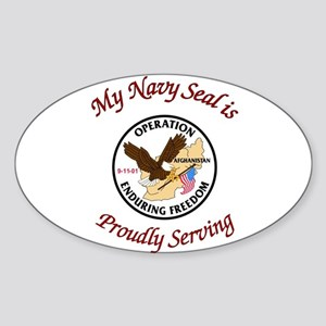 My navy seal Sticker (Oval)