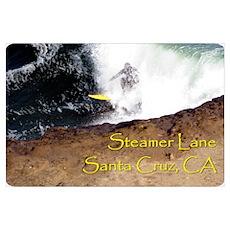 Surfing Santa Cruz Tee Poster