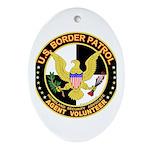 US Border Patrol mx1 Oval Ornament