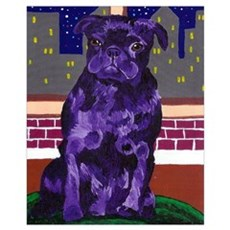 Purple Pug in NY Poster
