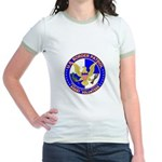 US Border Patrol mx1 Jr. Ringer T-Shirt