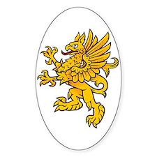 Gryphon Oval Sticker