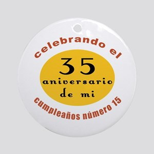 Funny Spanish 50th Birthday Ornament (Round)