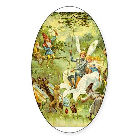 Fairy Prince and Princess Sticker (Oval 50 pk)