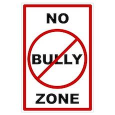 No Bully Zone Anti-Bullying Poster