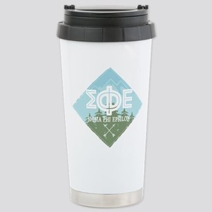 Sigma Phi Epsilon 16 oz Stainless Steel Travel Mug