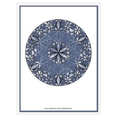 Flower of Life in Blue Framed Print