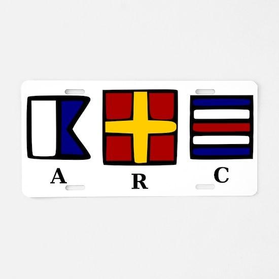 aRc Aluminum License Plate