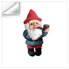 Smoking Pipe Gnome Wall Decal