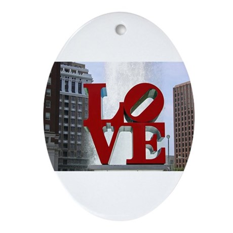 Love Park Ornament (Oval)