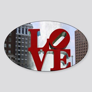 Love Park Sticker (Oval)
