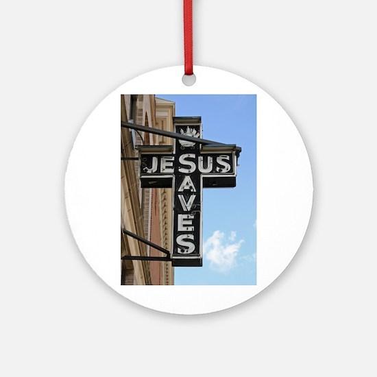 Jesus Saves Ornament (Round)
