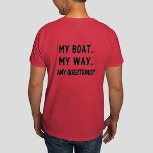 MY BOAT. MY RULES. Dark T-Shirt