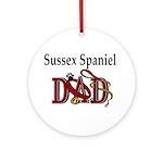 Sussex Spaniel Dad Ornament (Round)