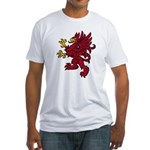 Red Gryphon Fitted T-Shirt