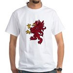 Red Gryphon White T-Shirt