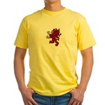 Red Gryphon Yellow T-Shirt