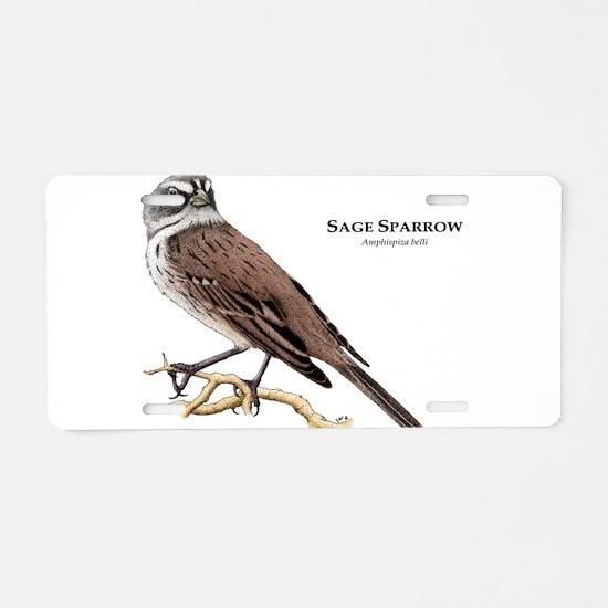 Sage Sparrow Aluminum License Plate