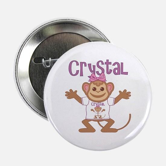 "Little Monkey Crystal 2.25"" Button"