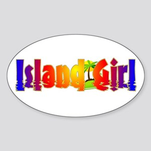 Island Girl Oval Sticker