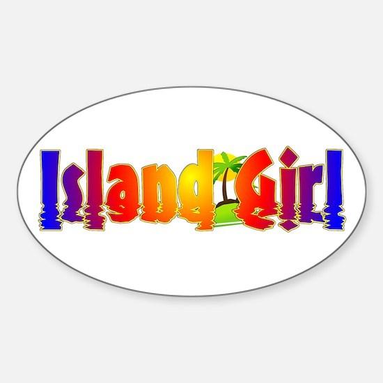 Island Girl Oval Decal