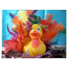 Thanksgiving Rubber Duck Poster