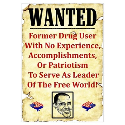 """Wanted: Barack Obama"" Framed Print"