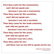 First They Came For... Poster