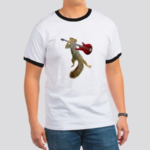 Squirrel Red Guitar Ringer T