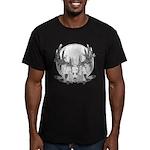 Whitetail Euro Mount Men's Fitted T-Shirt (dark)