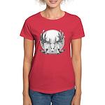 Whitetail Euro Mount Women's Dark T-Shirt